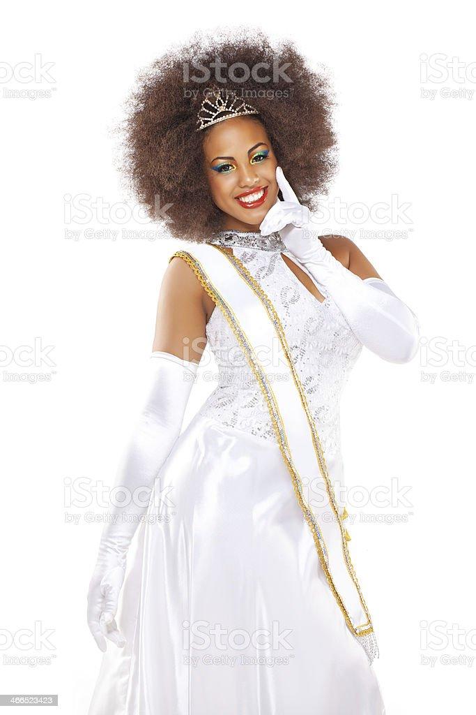 beauty pageant winner stock photo