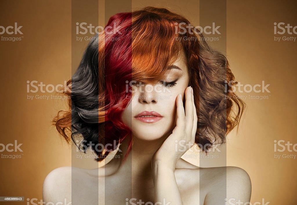 Beauty Portrait. Concept Coloring Hair stock photo