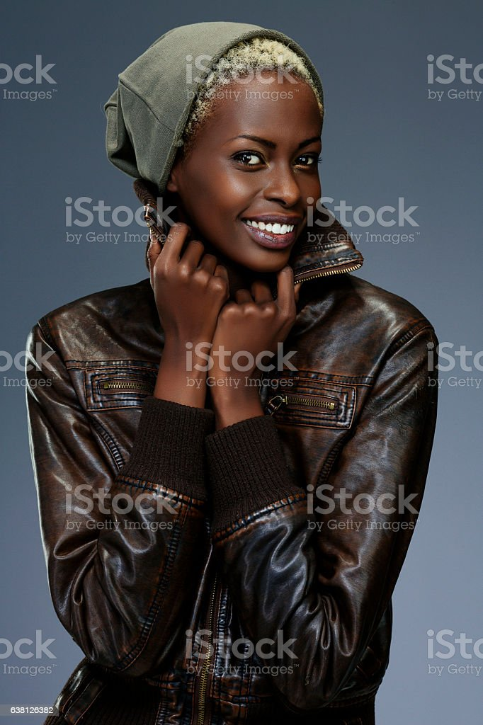 Beauty portrait  Fashion  Beautiful african ethnicity  young women  dressed casual stock photo