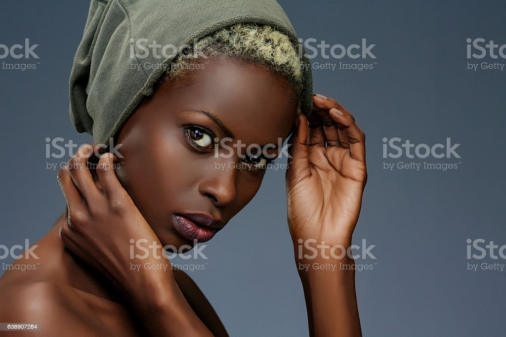 Beauty portrait  Fashion  Beautiful african ethnicity  young women stock photo