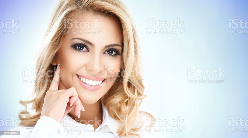 Beauty portrait of a businesswoman. stock photo