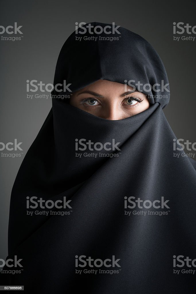 Beauty portrait of a Muslim woman stock photo