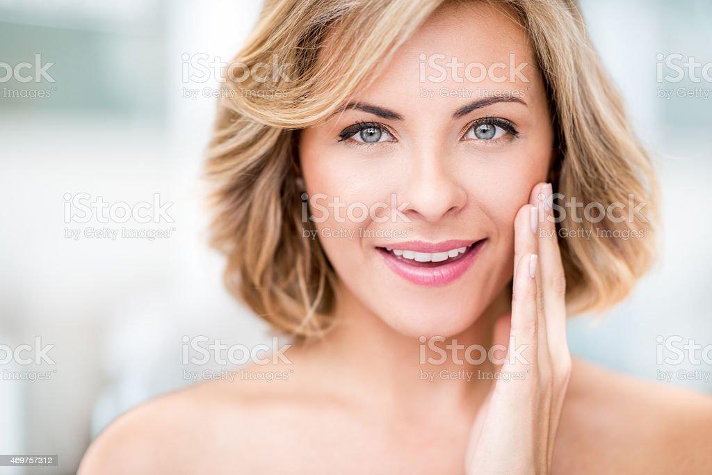 Beauty portrait of a woman stock photo