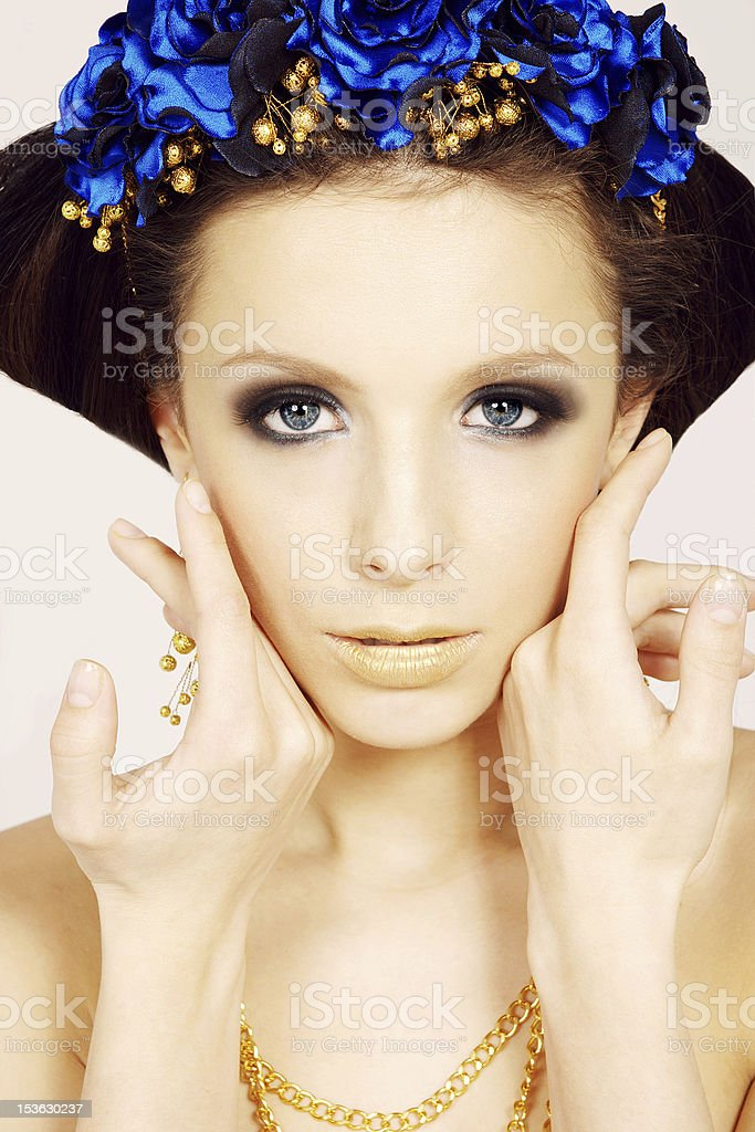 Beauty portrait of a young girl royalty-free stock photo