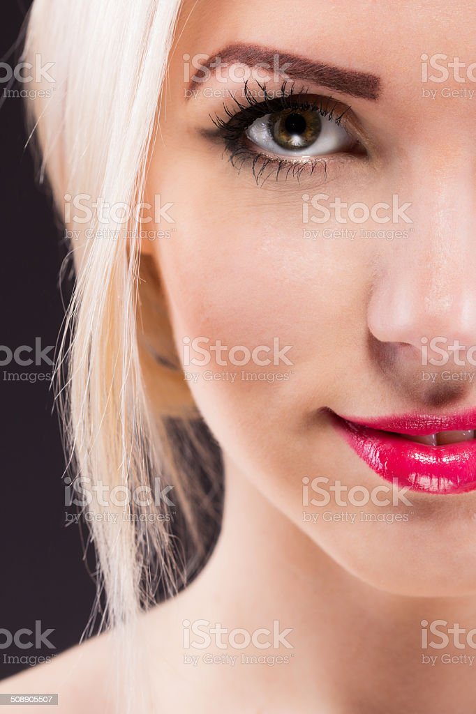 Beauty portrait of a young woman with beautiful smile royalty-free stock photo