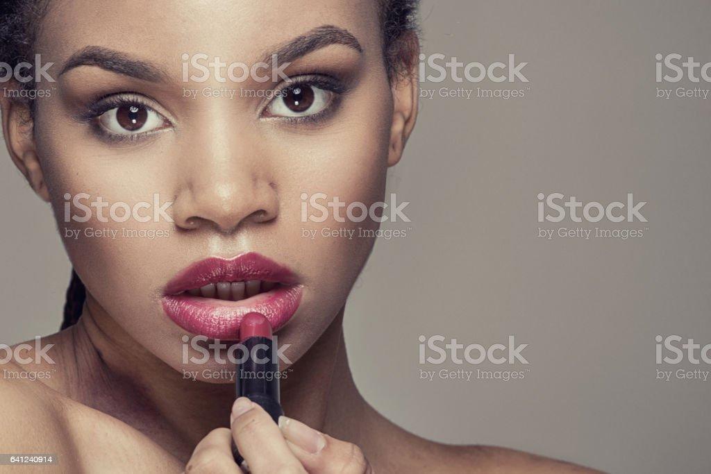 Beauty portrait of african girl. stock photo
