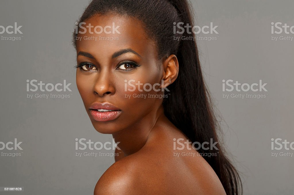 Beauty. Portrait of a lovely woman. Beautiful and sensual young...