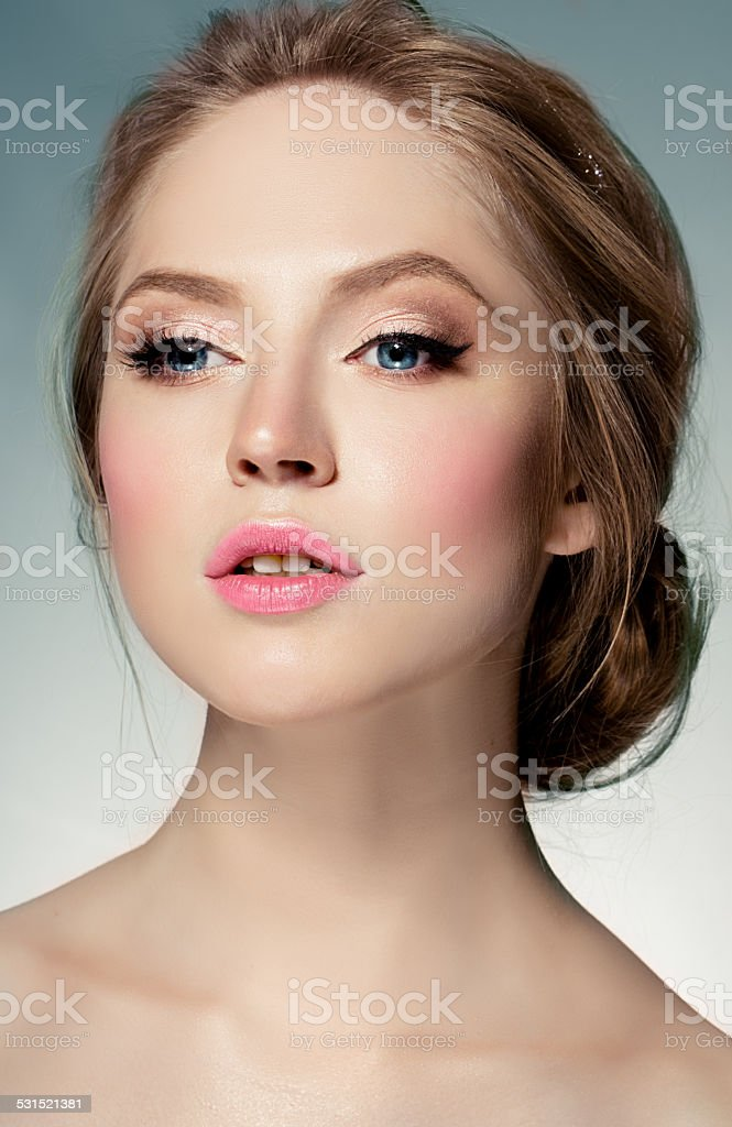 Beauty portrait of woman stock photo