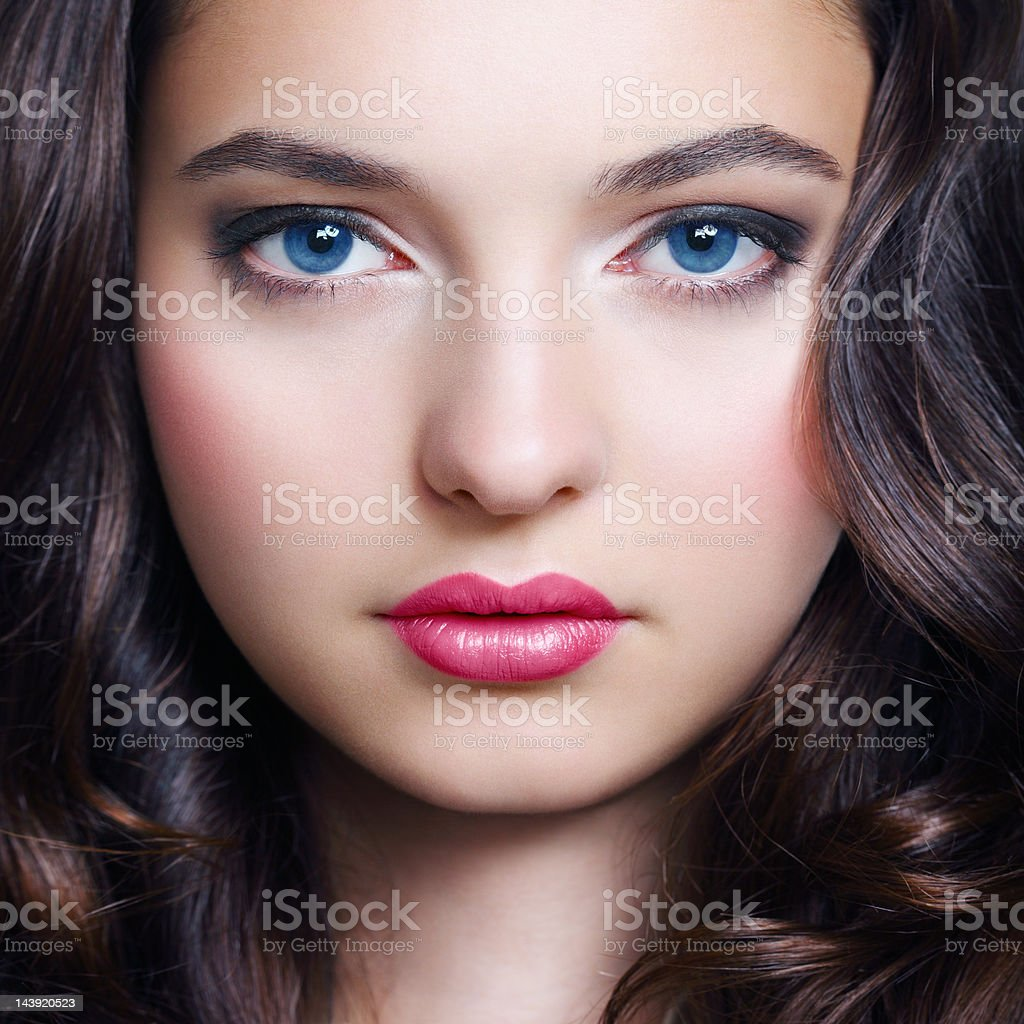 Beauty portrait of young fresh woman royalty-free stock photo
