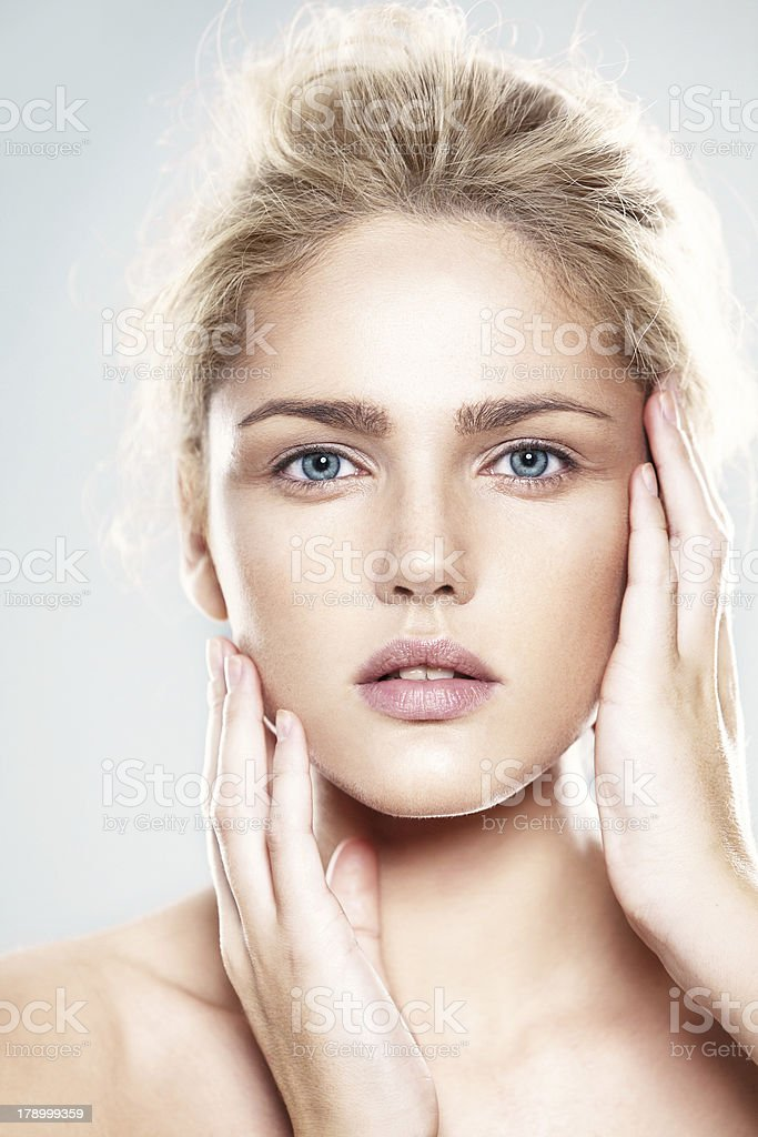 Beauty portrait of young model stock photo