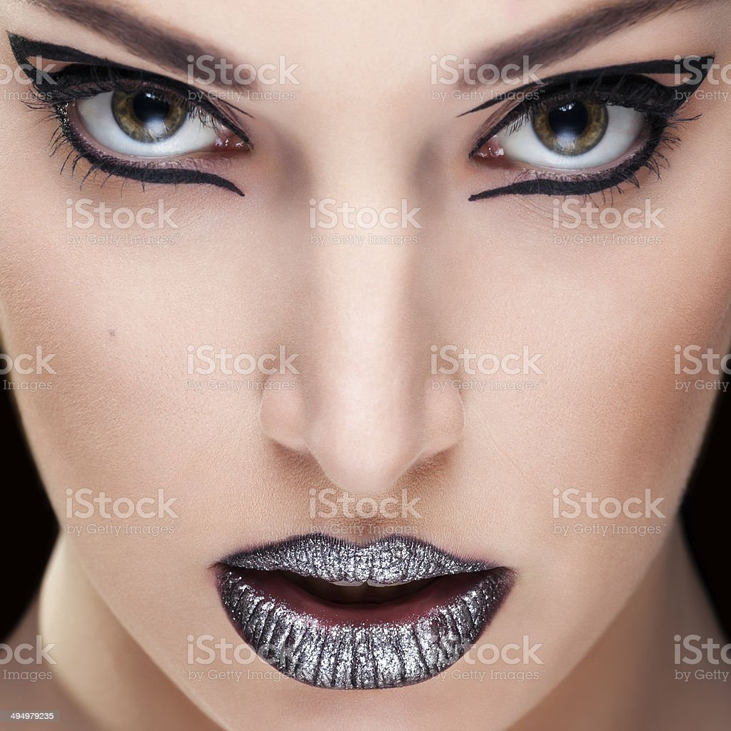 Beauty portrait of young woman closeup royalty-free stock photo