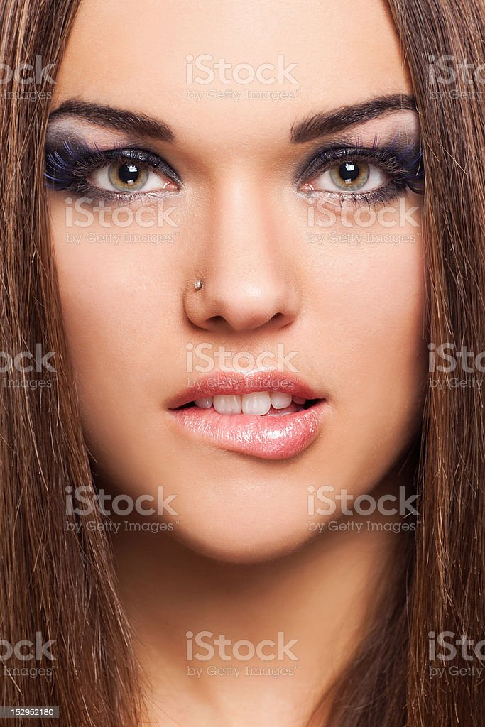 portrait de beauté photo libre de droits