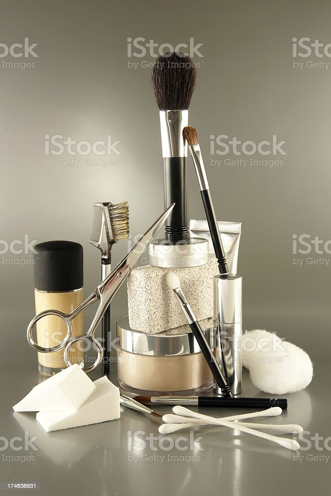 Beauty Products Stack stock photo
