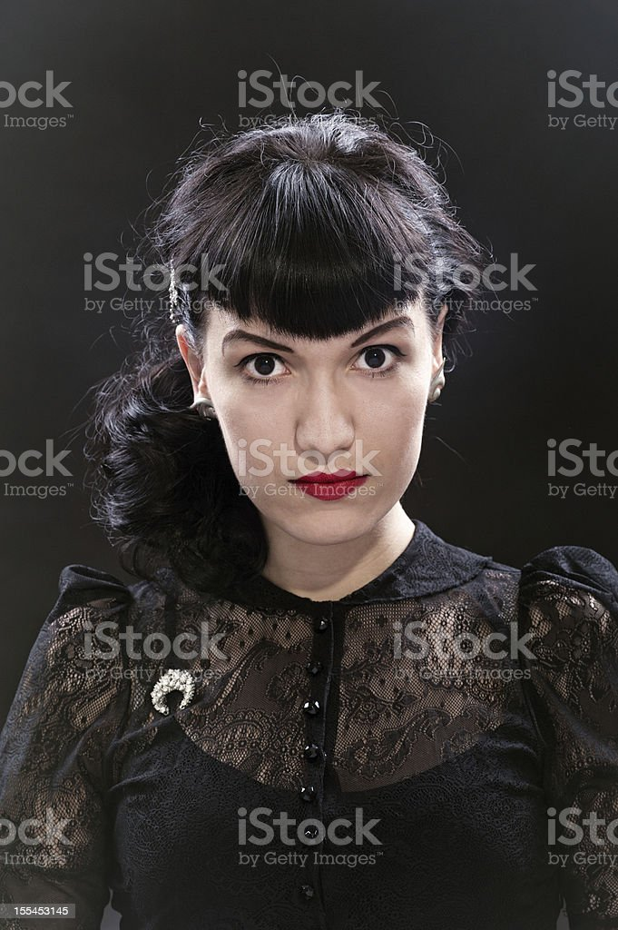 Beauty retro portrait royalty-free stock photo