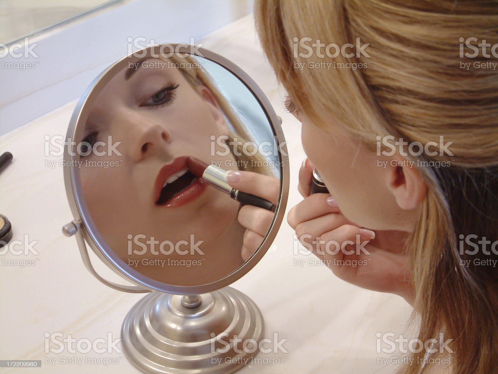 Beauty Routine royalty-free stock photo