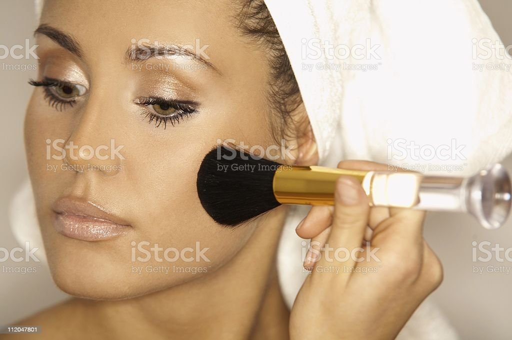 Beauty routines V royalty-free stock photo