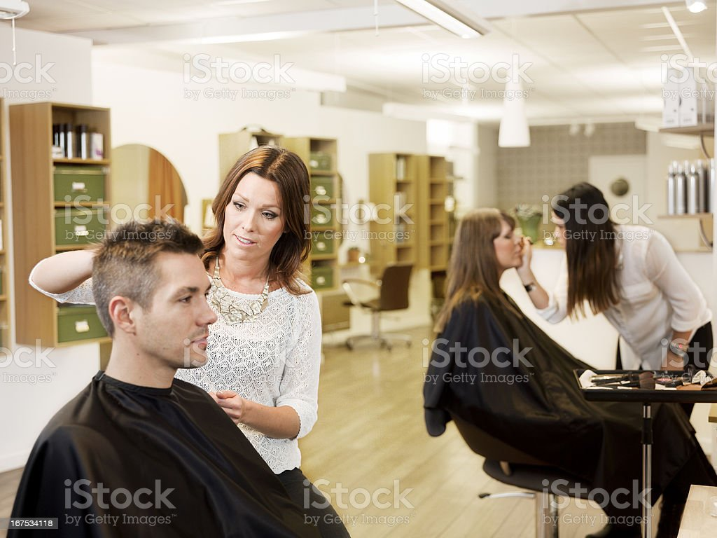 Beauty salon situation royalty-free stock photo