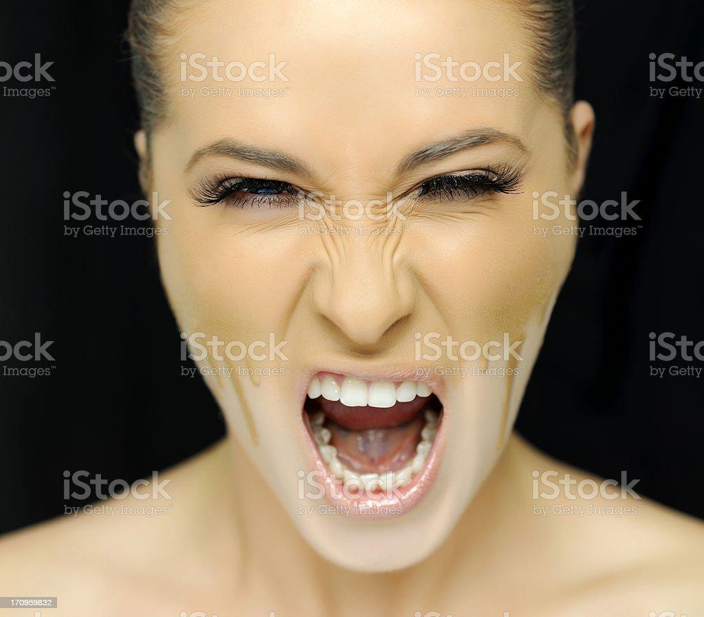 beauty scream royalty-free stock photo