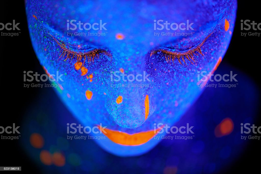 Beauty shines brightest in the dark stock photo