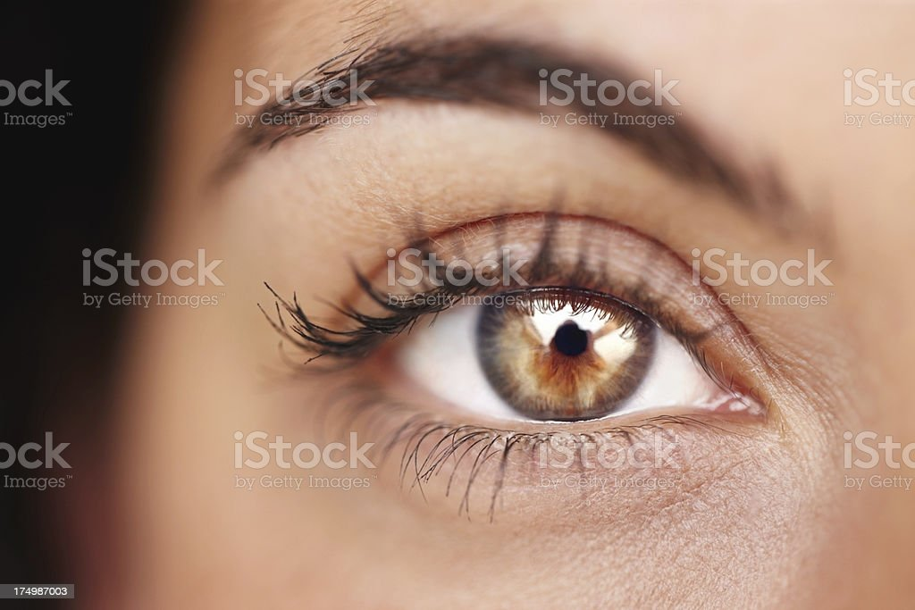 Beauty shines brilliantly in her gaze stock photo