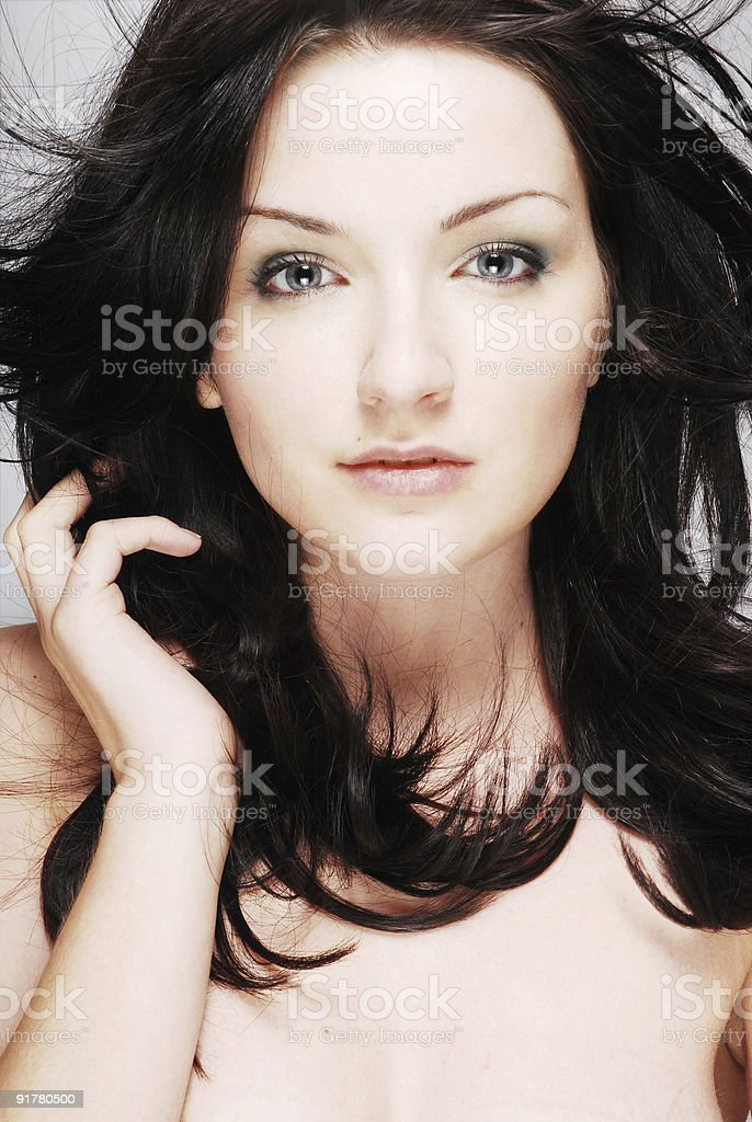 Beauty shot of a gorgeous woman royalty-free stock photo