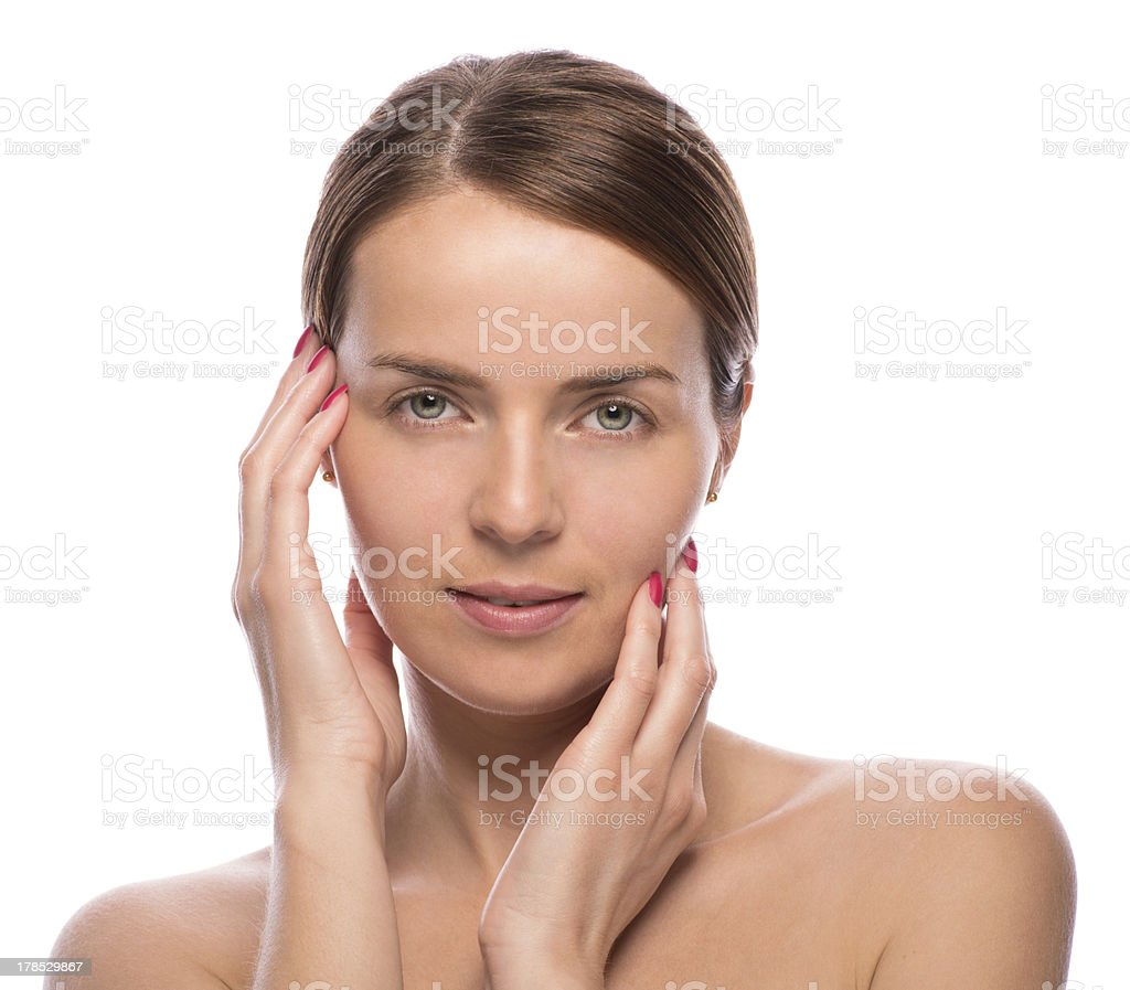 beauty shot of attractive young woman royalty-free stock photo