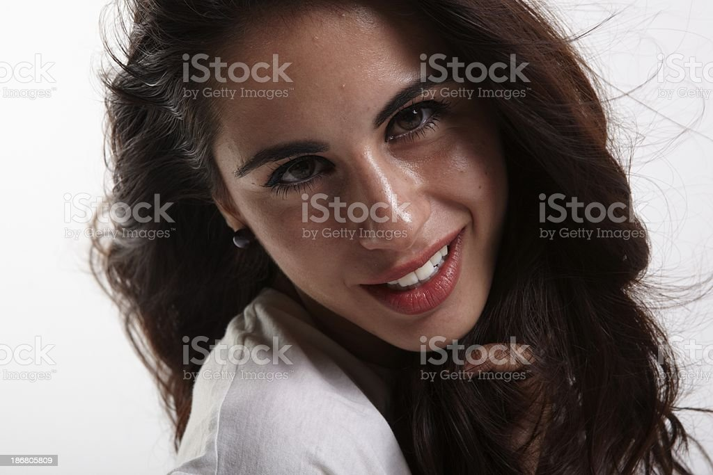 beauty smile stock photo