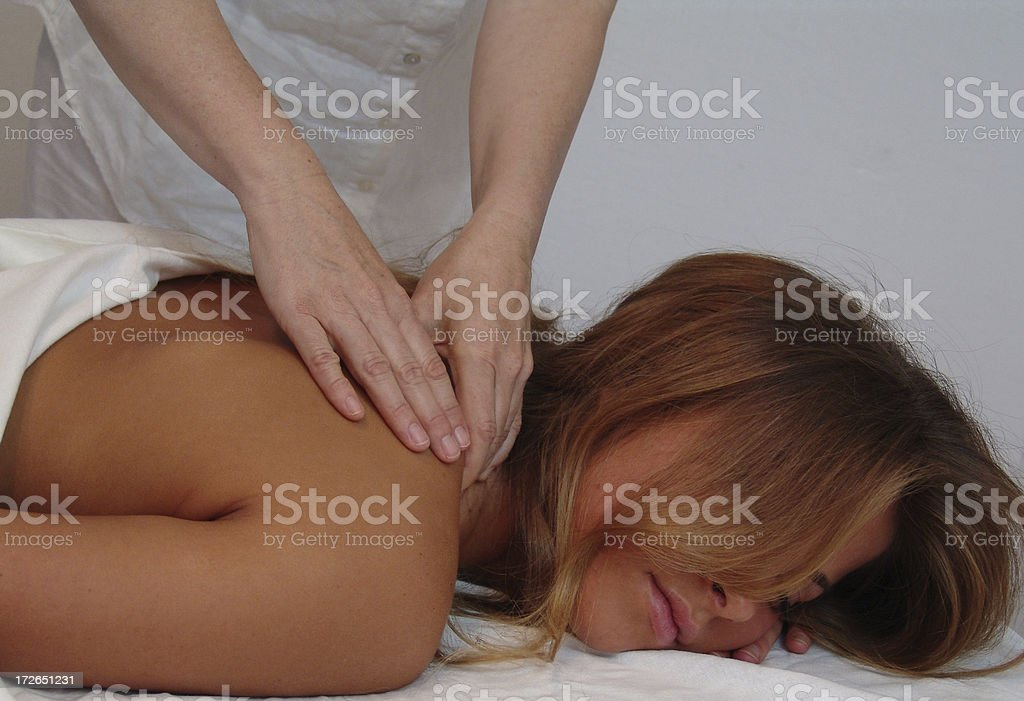 beauty spa massage royalty-free stock photo