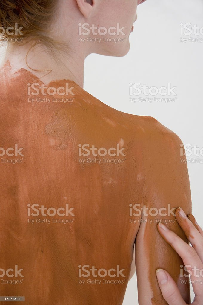 beauty spa mud skin treatment royalty-free stock photo