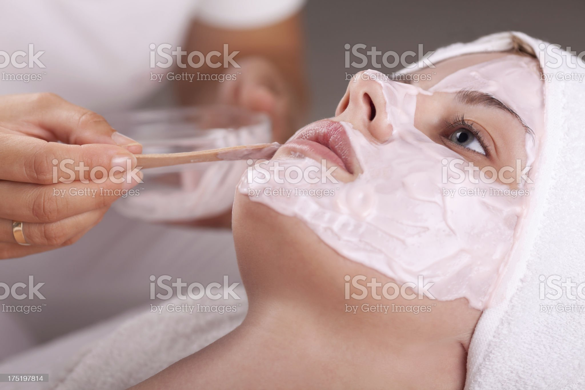 Beauty spa treatment royalty-free stock photo