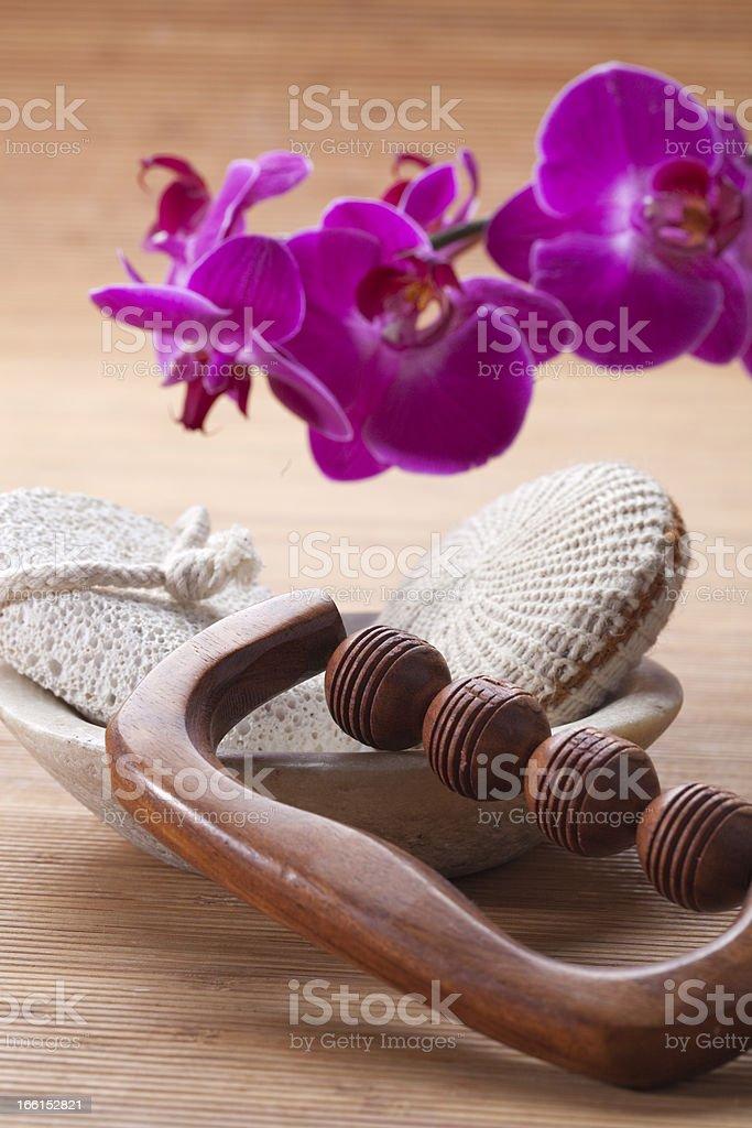 beauty still life for exfoliating massage royalty-free stock photo