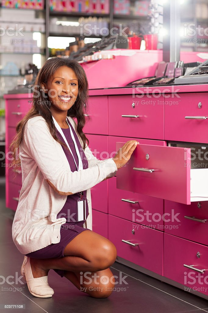 Beauty store owner. stock photo