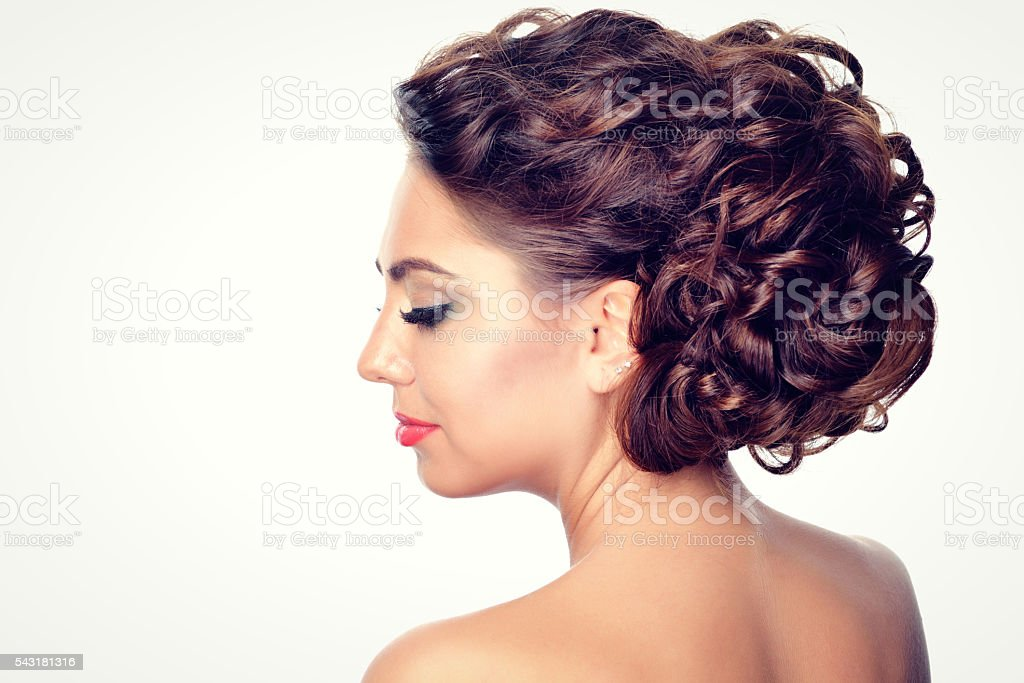 beauty style hairstyle stock photo