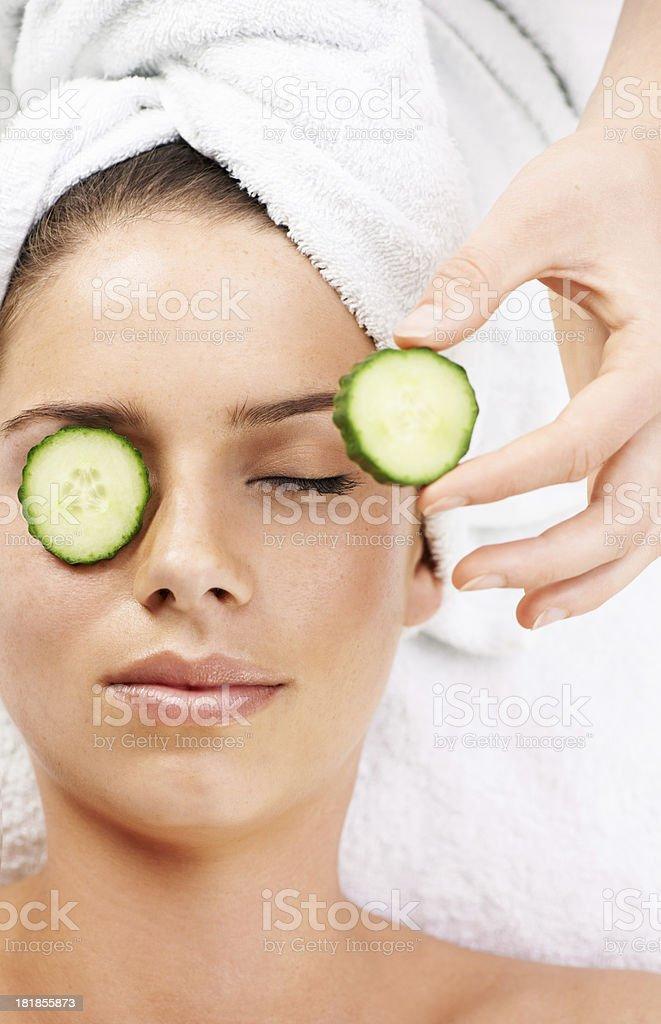 Beauty - the natural way royalty-free stock photo