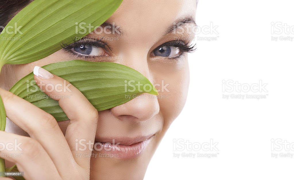 Beauty - the natural way stock photo