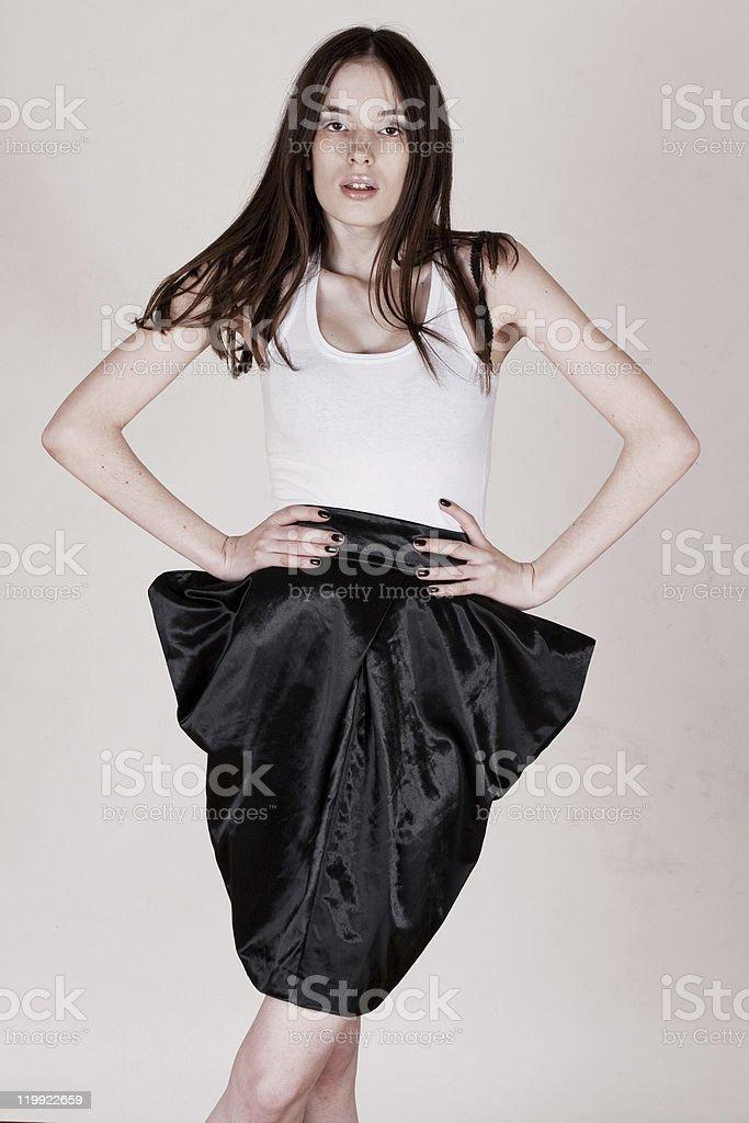 Belleza mujer delgada foto de stock libre de derechos