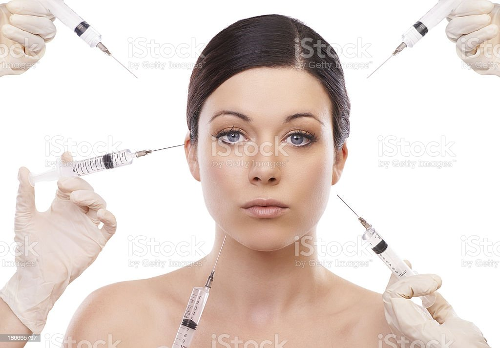 Beauty through botox royalty-free stock photo