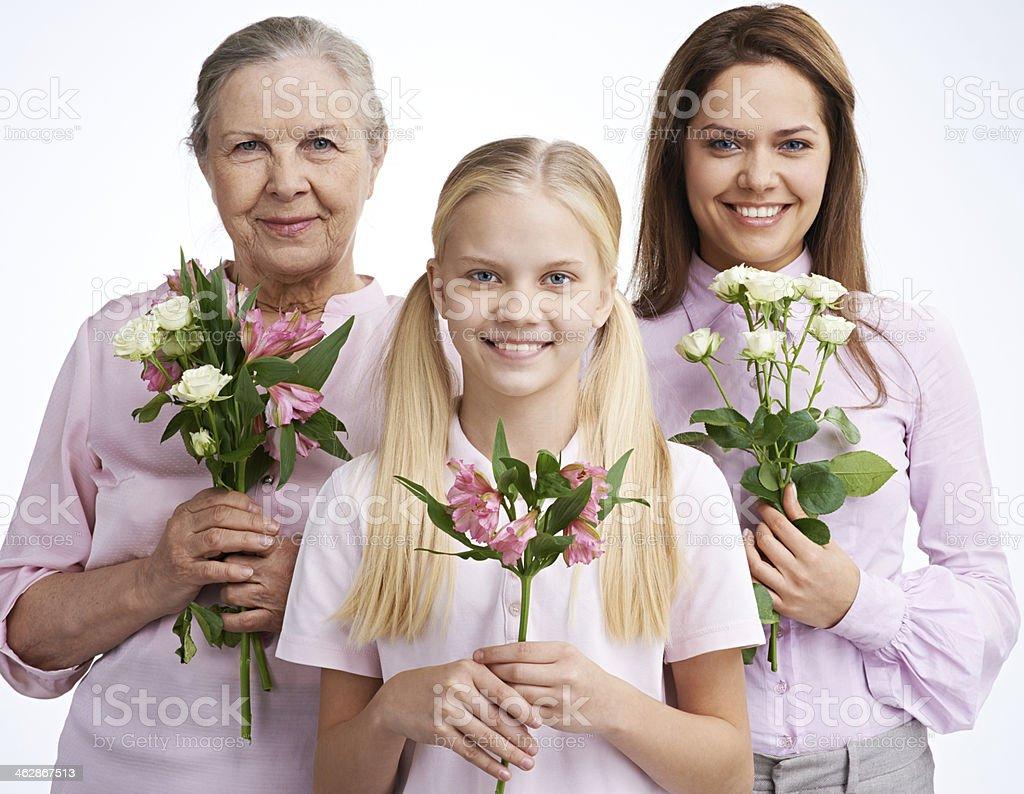 Beauty through generations royalty-free stock photo