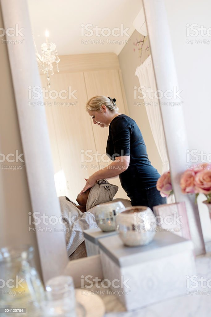 Beauty Treatment At The Spa stock photo