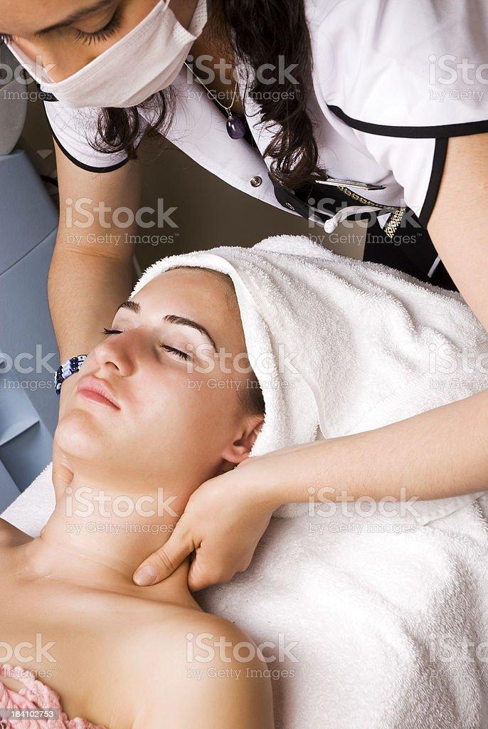 Beauty Treatment in Spa royalty-free stock photo