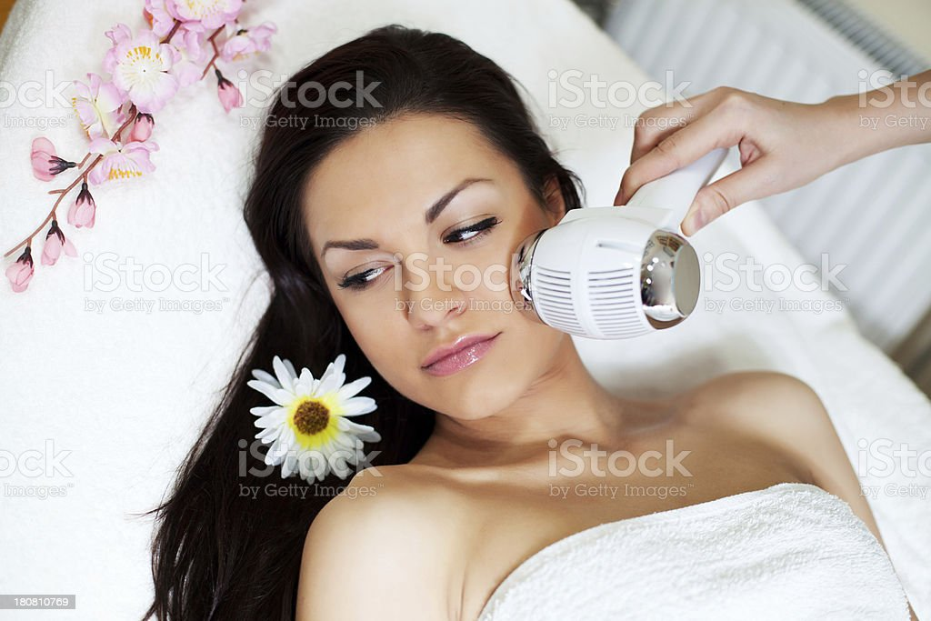 Beauty treatment. royalty-free stock photo