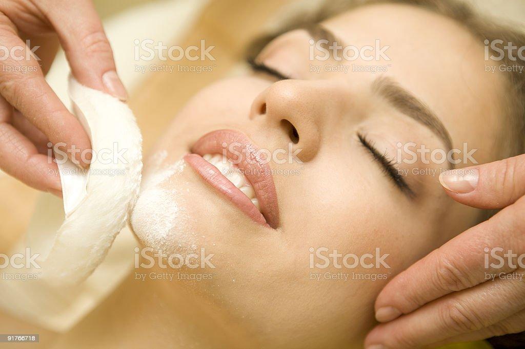 Beauty treatment. XXXL royalty-free stock photo