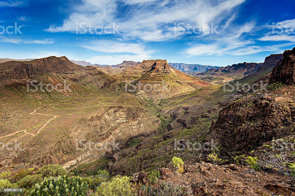 Beauty Valley in Gan Canaria stock photo