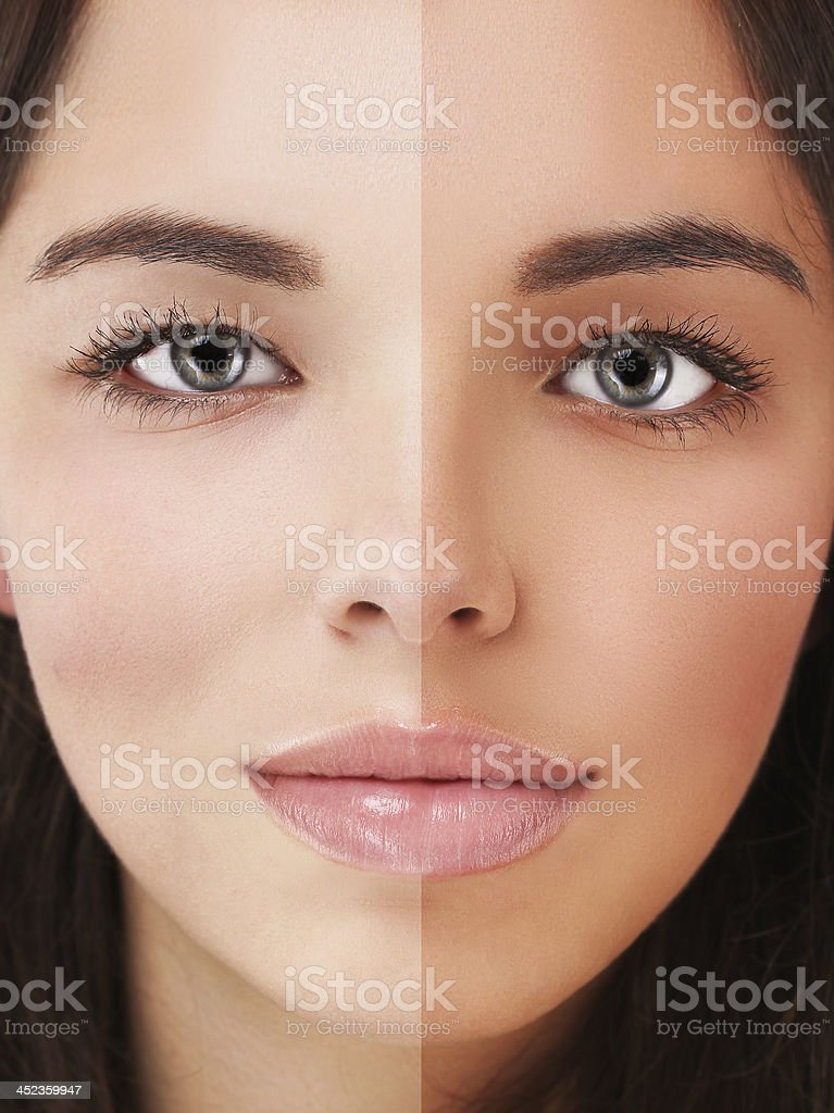 Beauty visual about suntan. royalty-free stock photo