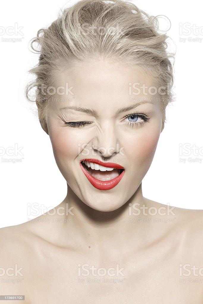 Beauty Wink royalty-free stock photo