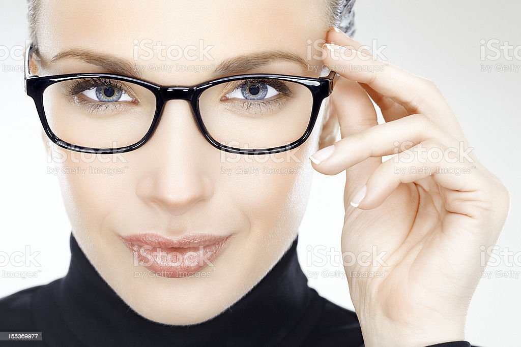 Beauty with eyeglasses royalty-free stock photo