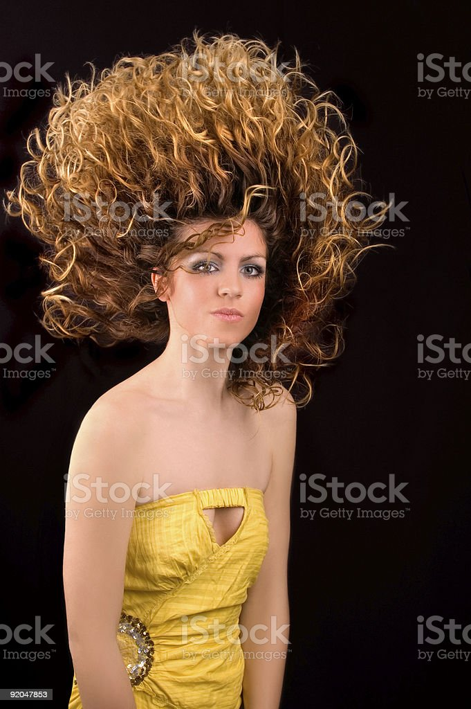 Beauty With Fire Hair stock photo