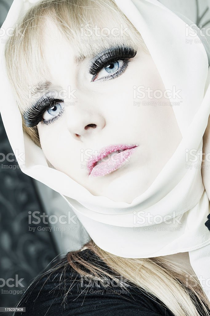 Beauty with headscarf royalty-free stock photo