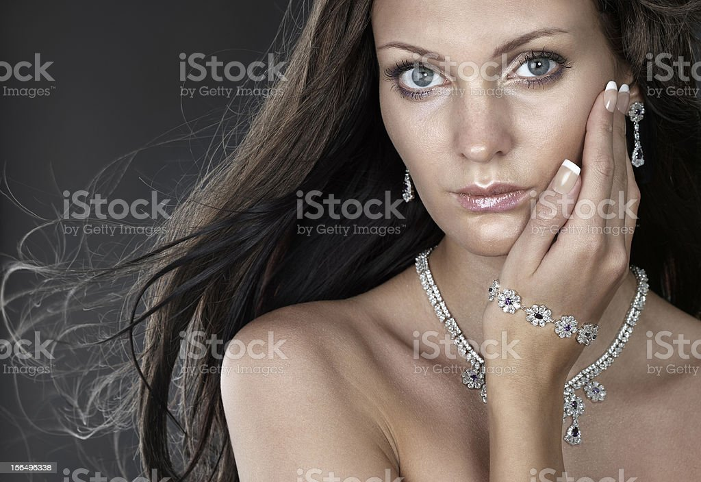 Beauty with jewellery royalty-free stock photo