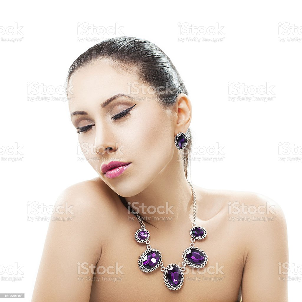 Beauty with jewelry royalty-free stock photo